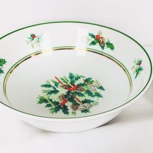 "Noritake Holly Fine China 9"" Round Vegetable Bowl"